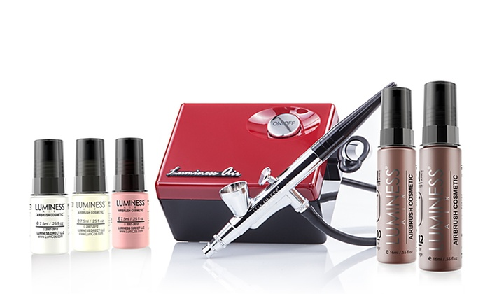Luminess Air Basic Airbrush System Leave your makeup brushes aside and opt for 1 simple system to apply primer, foundation with sheer to ultra coverage, blush, and eyeshadow Groupon/5().
