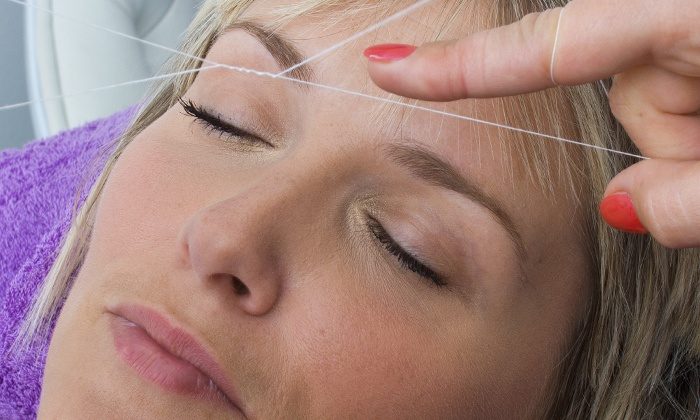 Jharana Beauty & Threading - West Hollywood: Threading Session for Eyebrows and Upper Lip from Jharana Beauty & Threading (Up to 53% Off). Three Options.