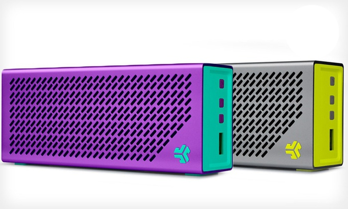 JLab Crasher Portable Bluetooth Speaker with Mic and USB Device Charging: JLab Crasher Portable Bluetooth Speaker with Mic and USB Device Charging. Multiple Colors Available.