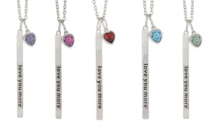 Love You More Vertical Bar Necklace with Swarovski Elements at Love You More Vertical Bar Necklace with Swarovski Elements, plus 9.0% Cash Back from Ebates.