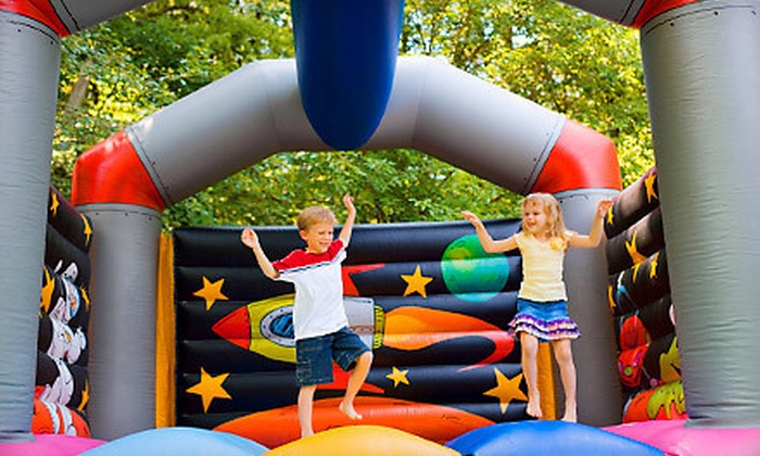 Hop-A-Lot Rentals - Des Moines: Rental of Bounce House with Optional Slide or Bounce-House Obstacle Course from Hop-A-Lot Rentals (Half Off)