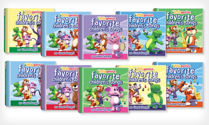 Little Genius Children's Songs CDs: $25 for 10 Little Genius Favorite Children's Songs CDs, Vol. 1-10 ($99.80 List Price). Free Shipping.