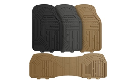 Supreme Rubber Trimmable Heavy-Duty Floor Mats (Set of 3)