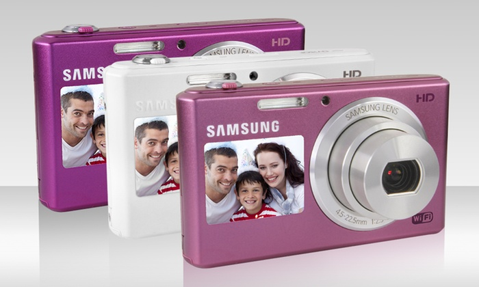 Samsung DV150F Dual-View 16MP Digital Camera with 5x Optical Zoom: Samsung DV150F Dual-View Digital Camera. Multiple Colors. Free Shipping.