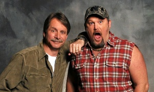 Jeff Foxworthy and Larry the Cable Guy: Jeff Foxworthy and Larry the Cable Guy on Saturday, April 23, at 5 p.m. or 8 p.m.