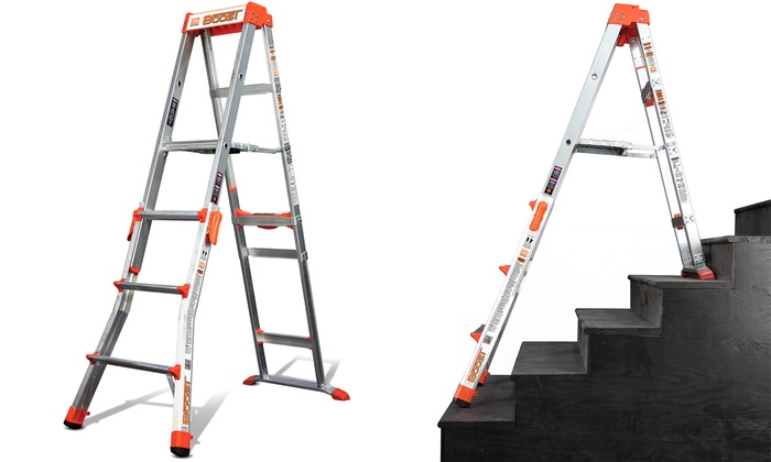 Little Giant Boost 2-in-1 Step Stool and Stepladder: Little Giant Boost 2-in-1 Step Stool and Stepladder