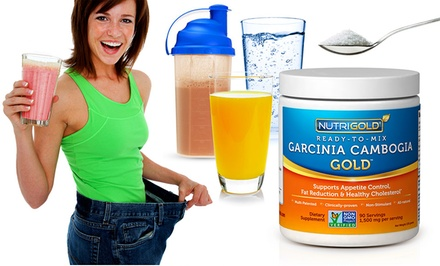 Buy 2 Get 1 Free: 270-High Potency Servings of Garcinia Cambogia Ready-2-Mix Powder or One 90-Serving Bottle