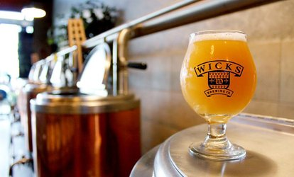 image for Beer Flights and Pints for Two or Four People at Wicks Brewing Co. (Up to 48% Off)