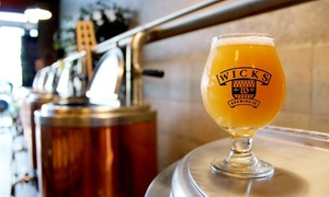 Wicks Brewing Co.: Beer Flights and Pints with Optional Brewery Tour for Two or Four at Wicks Brewing Co. (Up to 42% Off)
