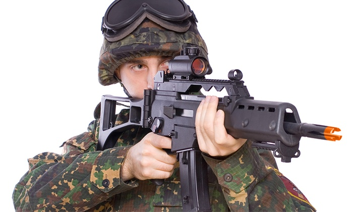Liberty Paintball - Liberty Paintball: Airsoft Package for One or Two, Including Gun and Gear Rentals at Liberty Paintball (Up to 47% Off)