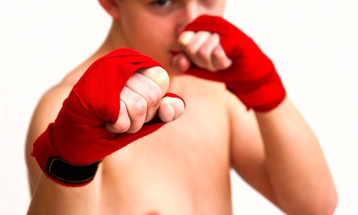 East Coast Fighter - South End: One Month Unlimited Muay Thai or Brazilian Jiu Jitsu for One or Two Kids at East Coast Fighter (Up to 72% Off)