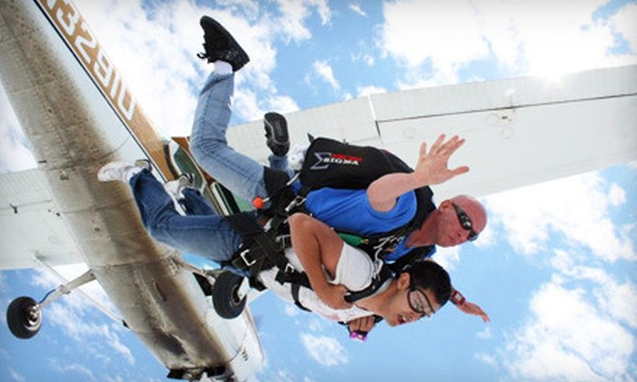 Westside Skydivers - Winsted: $129 for a Shove Your Love Tandem Jump from Westside Skydivers (Up to $229 Value)