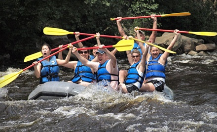 1 Night of Camping with Tent or Bunkhouse Rental for up to 4 at the Lehigh River Campground - Whitewater Challengers in Weatherly