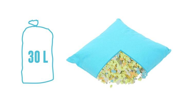 sac de mousse pour rembourrage groupon shopping. Black Bedroom Furniture Sets. Home Design Ideas