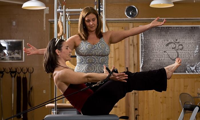 Rebalance Pilates - Petaluma: Pilates Group and Private Classes at Rebalance Pilates (Up to 66% Off). Three Options Available.
