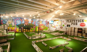 Up to 41% Off Beer and Mini Golf at Flatstick Pub  at Flatstick Pub, plus 6.0% Cash Back from Ebates.