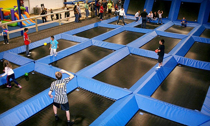 Spring Loaded Trampoline Park - New Braunfels: Full-Day Open-Bounce Pass for Two on Weekdays or Weekends at Spring Loaded Trampoline Park (Half Off)