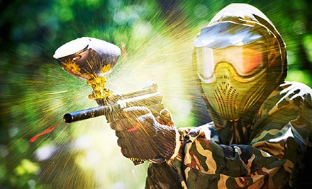 Day of Paintball with Gear Rental, Paintballs, and Air for Two or Four at Wayne's World of Paintball (Up to 58% Off)