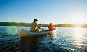Riverfront Camp Canoe: Canoe Rental and Camping from Riverfront Campground & Canoe (Up to 54% Off). Five Options Available.