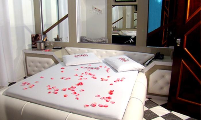 Motel Detalhes - Niterói: Motel Detalhes – Santa Bárbara: apartamento super luxo com almoço ou jantar romântico, por R$ 69,90