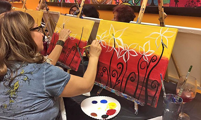 Paints n' Cocktails - Multiple Locations: Two-Hour BYOB Paint Party with Materials and Snacks for One or Two (Up to 46% Off). Eight Options Available.
