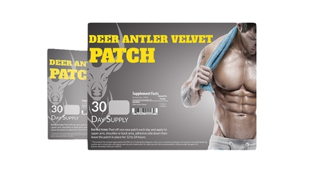 Deer Antler Velvet Extract Pre-Workout Performance Enhancer Patches (30-Pack)