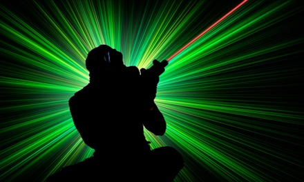 $20 for Laser Tag for Up to Four with Drinks and Arcade Credits at Lazer X (Up to $77 Value)