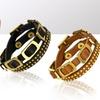 Genuine Leather Stud and Buckle Bracelets