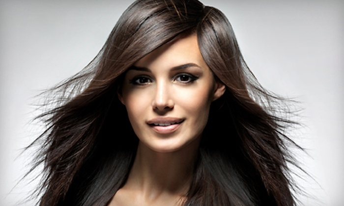 eSTeé Salon - North Raleigh: Haircut and Style with Optional Gloss or Partial Highlights at eSTeé Salon (Up to 57% Off)
