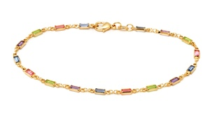 18K Gold Plated Anklet Made with Swarovski Elements