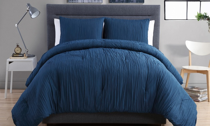 Crinkle Duvet Cover Set 2 Or 3 Piece Groupon