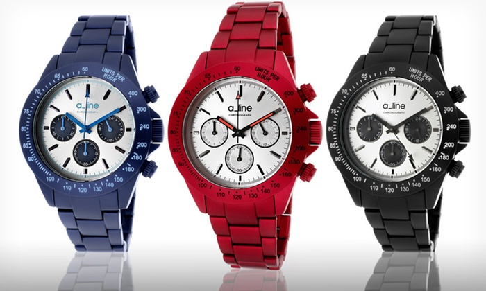 a_line Women's Amore Chronograph Watches: $48.99 for an a_line Women's Amore Chronograph Watch ($495 List Price). 10 Options Available. Free Shipping and Returns.