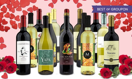 79% Off 15 Bottles of Premium Wine from Heartwood & Oak