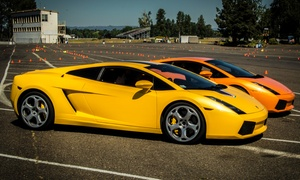Experience Supercars: Ferrari or Lamborghini Dragster Experience 5 at Experience Supercars (Up to 86% Off). Two Options Available.