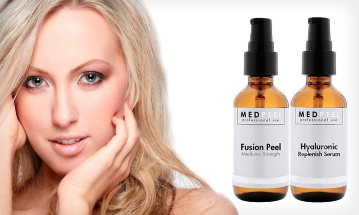 Anti-Aging Serum Two-Pack: $25 for an At-Home Fusion Pro Peel + Hyaluronic Anti-Aging Serum ($144 List Price)