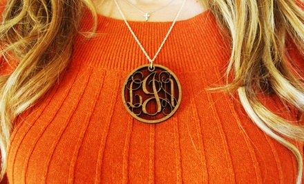 2 In. Monogrammed Wood Necklace from Lilydeal.com and $20 Toward Future Order. Free Shipping.