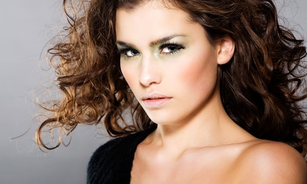 Haircare Package with Optional Full Color or Partial Highlights at Maxwell's Salon of London in Irvine (Up to 67% Off)
