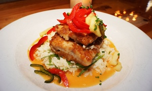 Menotomy Grill & Tavern: Three-Course Dinner for Two or Four at Menotomy Grill & Tavern (Up to 38% Off). Three Options Available.