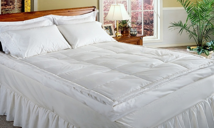 Royal Luxe Six-Inch Down-Top Featherbed: Royal Luxe Six-Inch Down-Top Featherbed (Up to 83% Off). Multiple Options Available. Free Shipping.