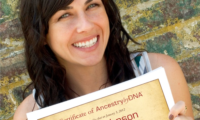 AncestrybyDNA: $97 for a DNA Ancestry Test with an Online Results Manual from AncestrybyDNA ($195 Value)