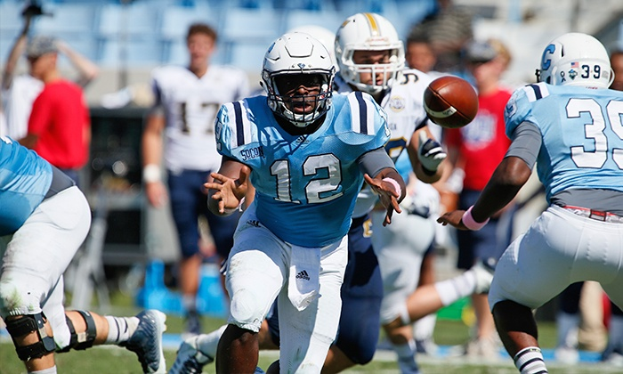 The Citadel Bulldogs - Johnson Hagood Stadium: Citadel College Football Game for Two or Four at Johnson Hagood Stadium on September 5 or 26 (Up to 54% Off)