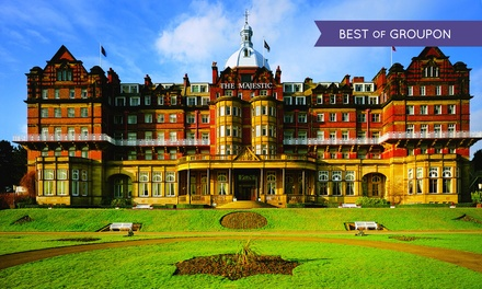 Harrogate: Stay For Two With Breakfast, Dinner, Wine And Leisure Access; With Option For Tea at 4* The Majestic Hotel
