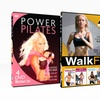 Power Pilates and Walk Fit 8-DVD Workout Bundle