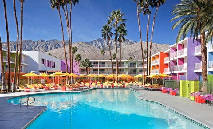 Rainbow-Colored 4-Star Palm Springs Resort
