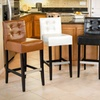 Set of 2 Gregory Tufted Barstools or Counter Stools