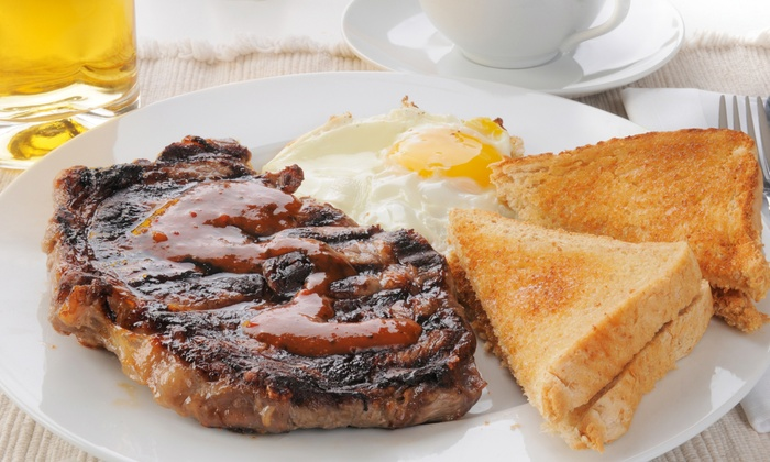 Steak & Eggs - Okmulgee: $23 for Chicken and Shrimp, Sirloin Steak, and Supreme Omelet Entrees for Two or More at Steak & Eggs ($43.97 Value)