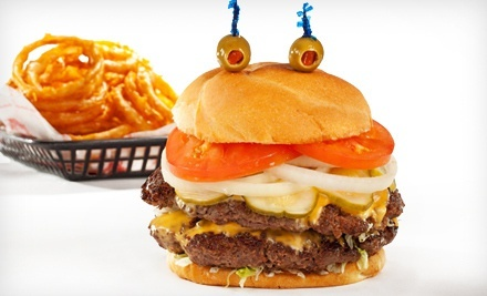 Burgers and American Food at Cheeburger Cheeburger (Half Off). Two Options Available.