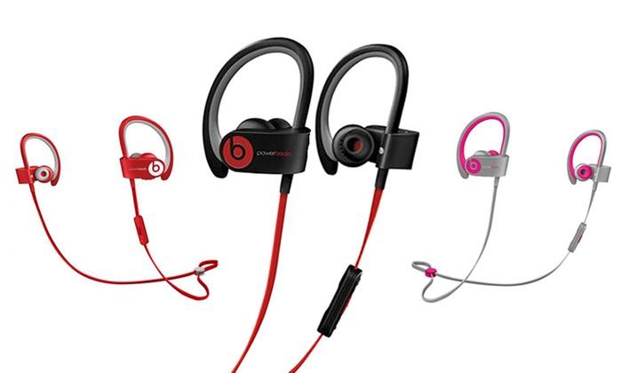 beats by dre powerbeats wireless in ear bluetooth headphones groupon. Black Bedroom Furniture Sets. Home Design Ideas