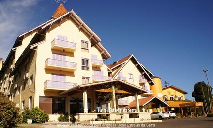 Gramado/RS: 1, 2, 3 ou 5 noites a 2 (opções em feriados) + café da manhã no Hotel Estrelas da Serra