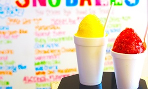 Snookies Cookies: 5 or 10 New Orleans–Style Sno-Ball Shaved Ice Treats and One Syrup at Snookies Cookies (45% Off)